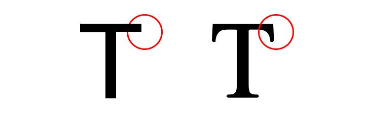 diferencia entre sans serif