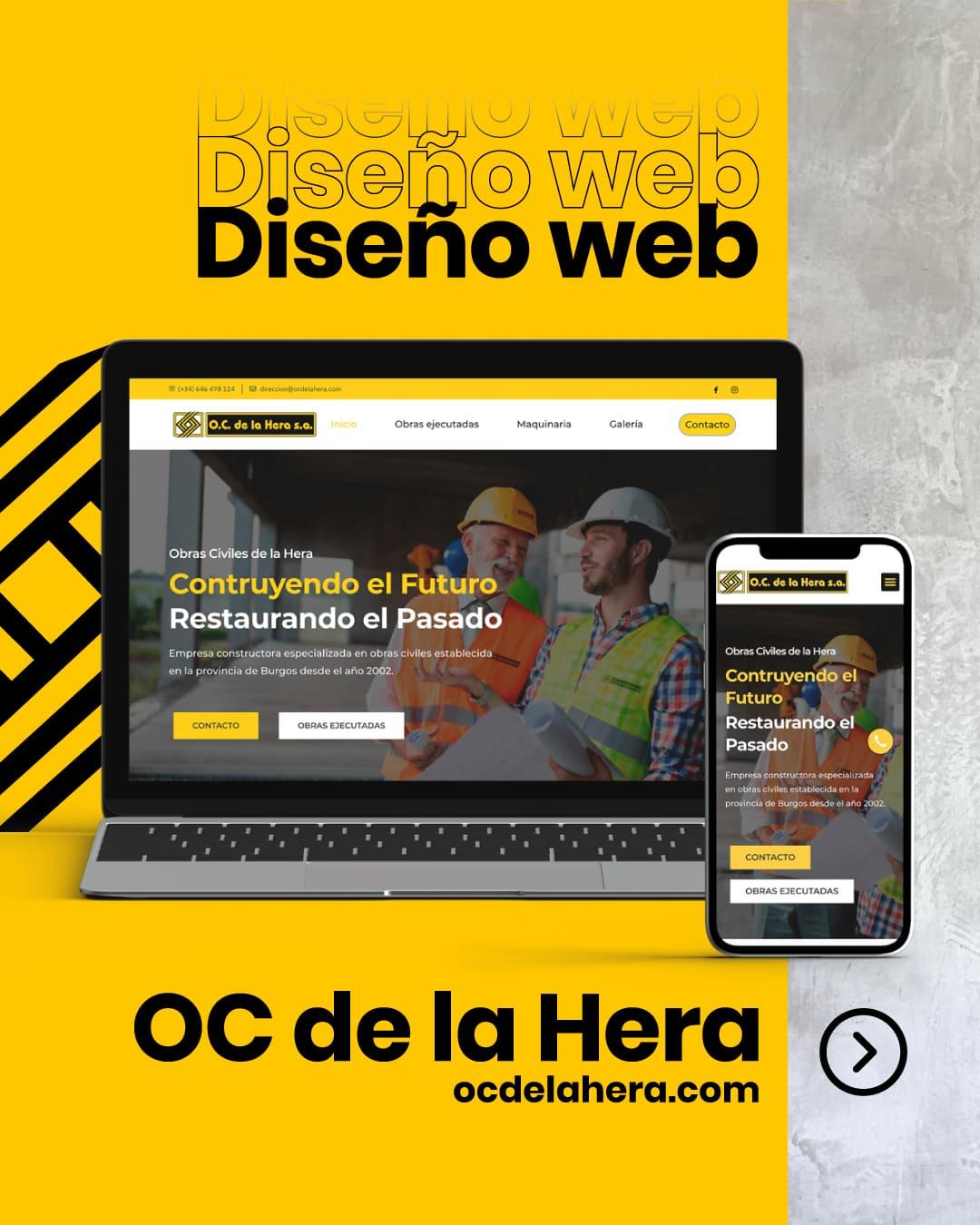 OC de la Hera diseño web